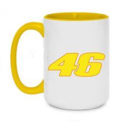 Кружка двоколірна 420ml 46 Valentino Rossi