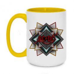Кружка двухцветная 420ml AC/DC Art Logo