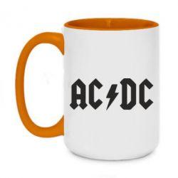Кружка двухцветная 420ml AC DC - FatLine