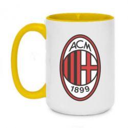Кружка двоколірна 420ml AC Milan
