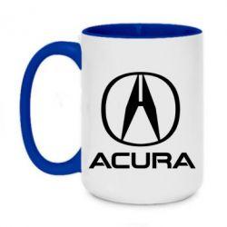 Кружка двоколірна 420ml Acura logo 2
