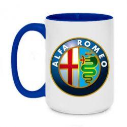 Кружка двухцветная 420ml ALFA ROMEO