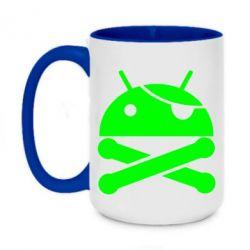 Кружка двухцветная 420ml Android Pirate - FatLine