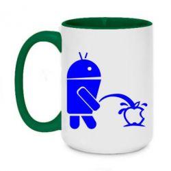 Кружка двоколірна 420ml Android принижує Apple