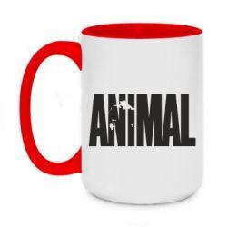 Кружка двухцветная 420ml Animal Logo
