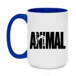 Кружка двоколірна 420ml Animal Powerlifting