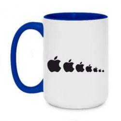 Кружка двоколірна 420ml Apple Еволюції