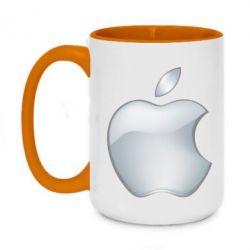 Кружка двоколірна 420ml Apple Silver - FatLine