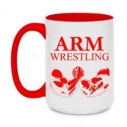 Кружка двоколірна 420ml Arm Wrestling