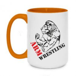 Кружка двухцветная 420ml Arm Wrestling