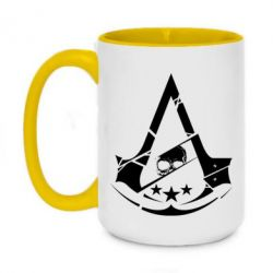 Кружка двухцветная 420ml Assassin's Creed and skull 1