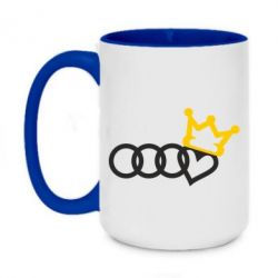 Кружка двоколірна 420ml Audi queen