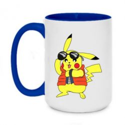 Кружка двоколірна 420ml Back to the Future Marty McFly Pikachu