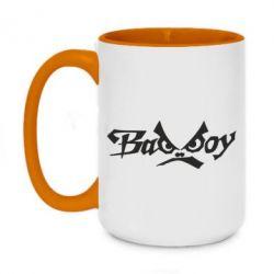 Кружка двухцветная 420ml Bad Boy Logo
