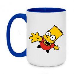 Кружка двухцветная 420ml Барт Симпсон