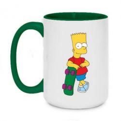 Кружка двухцветная 420ml Bart Simpson - FatLine