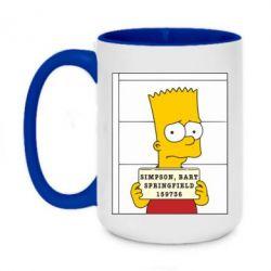 Кружка двухцветная 420ml Барт в тюряге - FatLine