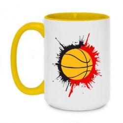 Кружка двухцветная 420ml Баскетбольный мяч - FatLine