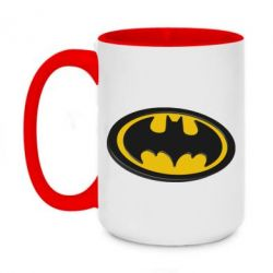 Кружка двоколірна 420ml Batman 3D