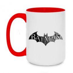 Кружка двухцветная 420ml Batman: arkham city
