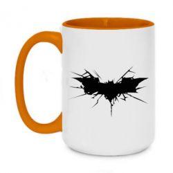 Кружка двухцветная 420ml Batman cracks - FatLine