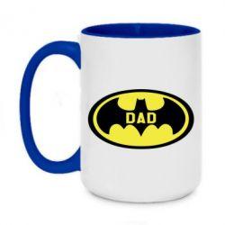 Кружка двоколірна 420ml Batman dad