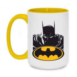 Кружка двоколірна 420ml Batman face