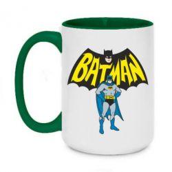 Кружка двухцветная 420ml Batman Hero