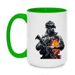 Кружка двухцветная 420ml Battlefield Warrior