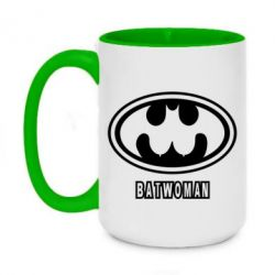 Кружка двоколірна 420ml Batwoman