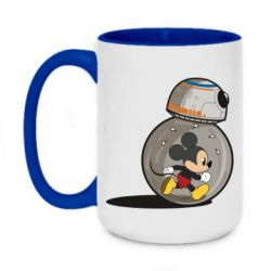 Кружка двоколірна 420ml BB-8 and Mickey Mouse