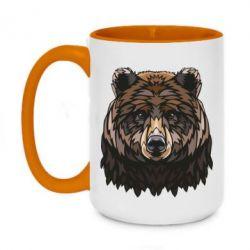 Кружка двоколірна 420ml Bear graphic