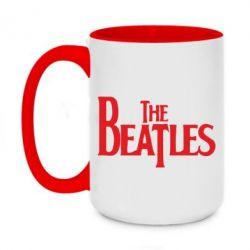 Кружка двухцветная 420ml Beatles - FatLine