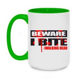 Кружка двухцветная 420ml Beware I BITE (Walking dead) - FatLine