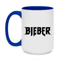 Кружка двухцветная 420ml Bieber
