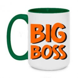 Кружка двухцветная 420ml Big Boss