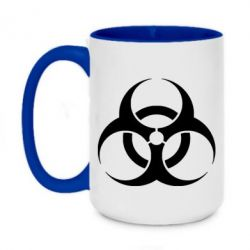 Кружка двухцветная 420ml biohazard