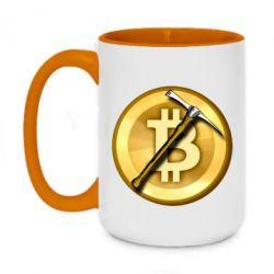 Кружка двоколірна 420ml Bitcoin Hammer