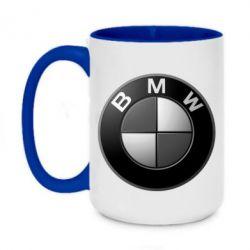 Кружка двоколірна 420ml BMW Black & White - FatLine