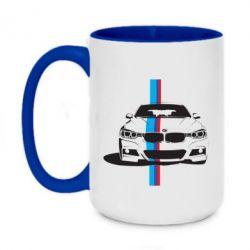 Кружка двухцветная 420ml BMW F30 - FatLine