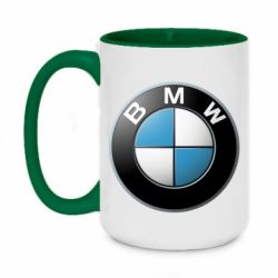 Кружка двухцветная 420ml BMW Logo 3D