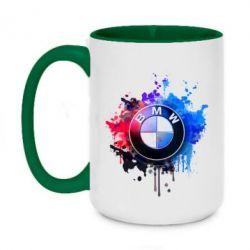 Кружка двухцветная 420ml BMW logo art 2 - FatLine