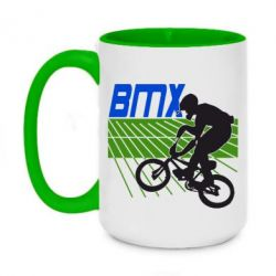Кружка двухцветная 420ml BMX Sport
