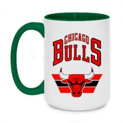Кружка двоколірна 420ml Великий логотип Chicago Bulls