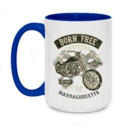 Кружка двоколірна 420ml Born Free Choppers