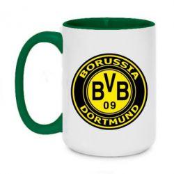 Кружка двоколірна 420ml Borussia Dortmund
