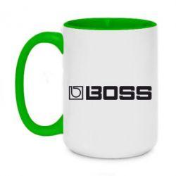 Кружка двухцветная 420ml Boss audio - FatLine