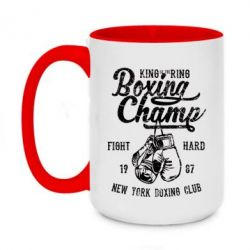 Кружка двоколірна 420ml Boxing Champ