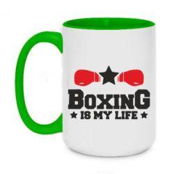 Кружка двоколірна 420ml Boxing is my life
