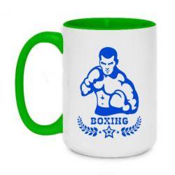 Кружка двухцветная 420ml Boxing Star